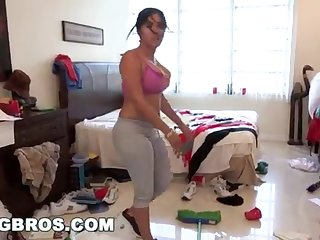 BANGBROS - Chunky Bootie Cuban Young gentleman Angelina Cleans And Gets Smashed!