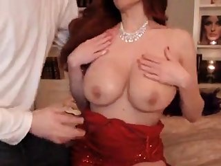 Gorgeous Babe In In flames Dress Gets Fucked