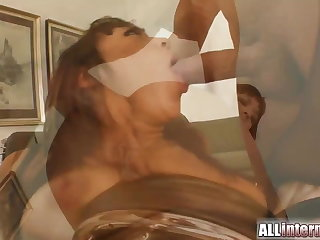 Squirt surprise as she's fucked in the arse