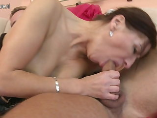 Hot mature MOM fucked by her prepubescence