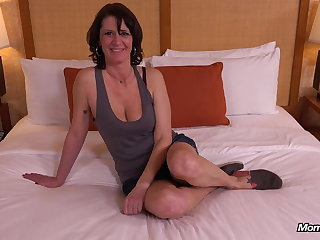 Unalloyed Natural Tits MILF Impatient to Fuck