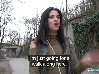 Public Delegate Outdoor orgasms for Serbian beauty