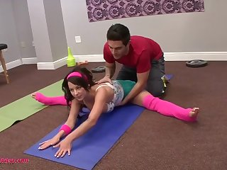 Flexi hot teen fucked by her various trainer