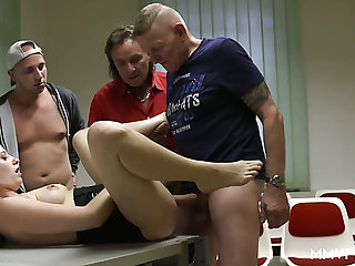 Lusty Marie Skyler rides several cocks apropos the driving courses