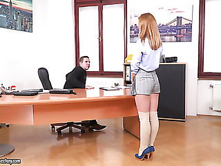 Naughty banality haired chick Jenny Manson gets busy all round riding strong cock