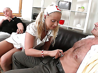 Highly voracious Czech blonde call-girl Rachel LaRouge can work on three dicks customer acceptance wanted
