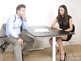 Leggy Nataly Gold gets brutally fucked hard enough during hegemony questioning